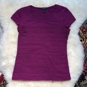 Ann Taylor purple short sleeve t-shirt top medium